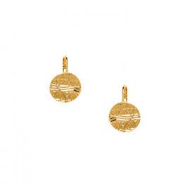 18k plated french hook earrings Swahili - Ori Tao