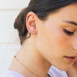 CONFETTIS boucles d'oreilles puces lilas - Olivolga