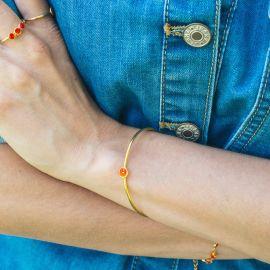 CONFETTIS bracelet jonc tangerine - Olivolga