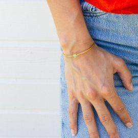CONFETTIS bracelet jonc vert - Olivolga