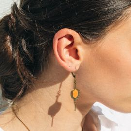 TOHU BOHU Nacarat earrings - Amélie Blaise