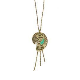 Amazone parrot short necklace - Amélie Blaise