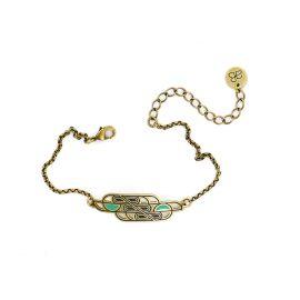 Bracelet totem Amazone vert - Amélie Blaise