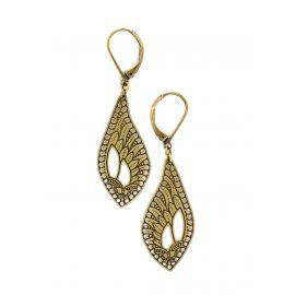 Douce Plume brass earrings - Amélie Blaise