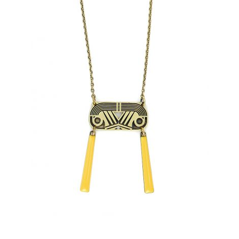 Short Amber Tiger Eye Necklace