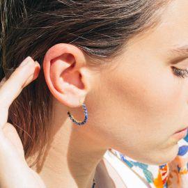 BONHEUR lapiz lazuli hoop earring - Olivolga