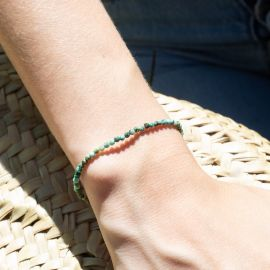 BONHEUR bracelet turquoise fermoir bouton - Olivolga