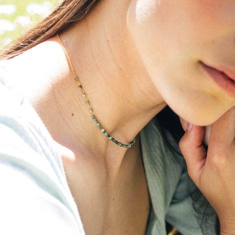 BONHEUR turquoise short necklace