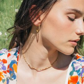 BONHEUR jasper picture necklace - Olivolga