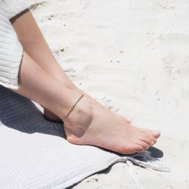 SUMMER bracelet de cheville lapis lazuli - Olivolga