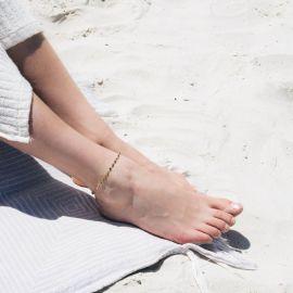 SUMMER bracelet de cheville turquoise - Olivolga
