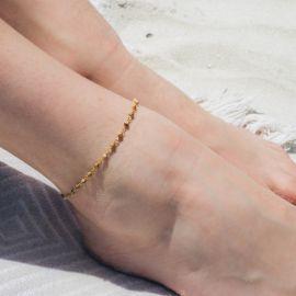 SUMMER jasper picture anklet bracelet - Olivolga