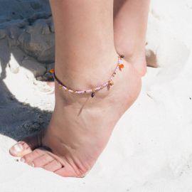 SUMMER multi-dangles anklet bracelet Lilac - Olivolga