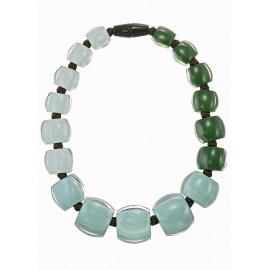 necklace BELLISSIMA 17beads magnet, pistachio - Zsiska