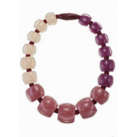 necklace BELLISSIMA 17beads magnet, sangria - Zsiska