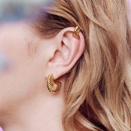 Milles Étoiles Boucle d'oreille Ear cuff et strass - Les Néréides