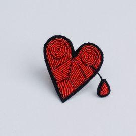 Broken heart brooch (Box size M) - Macon & Lesquoy
