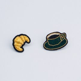 Cup and croissant brooch (Box size S) - Macon & Lesquoy