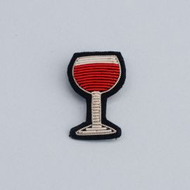 red wine brooch (Box size S) -