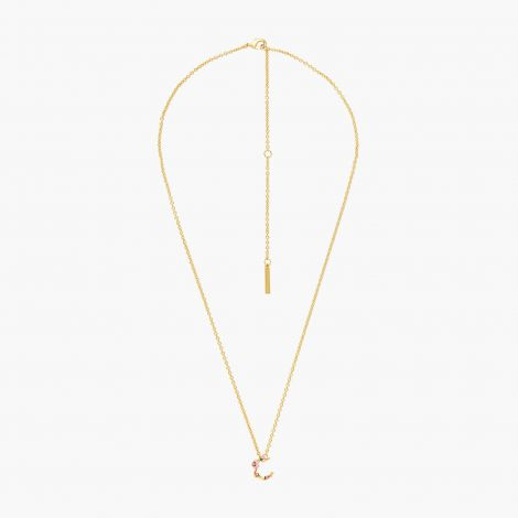Letter C extraordinary necklace