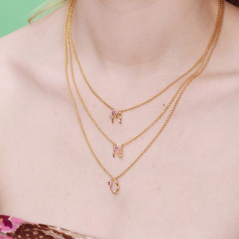 Letter M extraordinary necklace