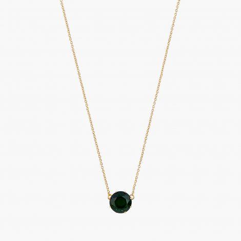 Pendant necklace La Diamantine Vert round stone.