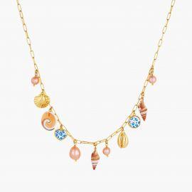 Necklace le Grand Large shell charms - Les Néréides