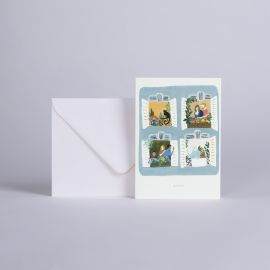 "Card ""BISOUS"" - Season Paper"