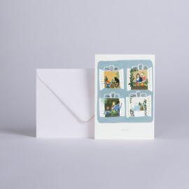 """Carte à la fenêtre """"BISOUS"""" - Season Paper"""