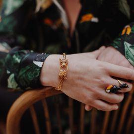 Leopards Biting Ring bracelet - Nach