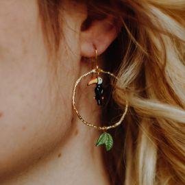 Toucan Pendant Branch earrings - Nach