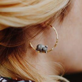 Boucles d'oreilles Branche de Koala - Nach