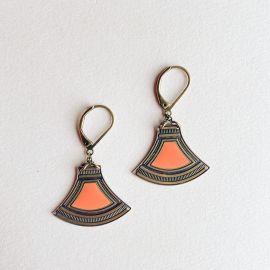 Nacarat Massai sleepers earrings - Amélie Blaise