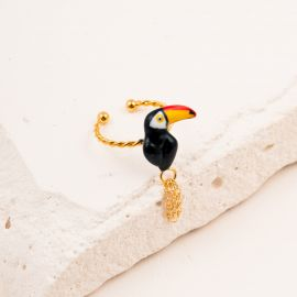 Toucan with chains tail mini ring - Nach