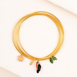 Multi bracelets Toucans et Feuilles - Nach