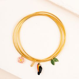 Toucans and Leaves multi bracelets - Nach