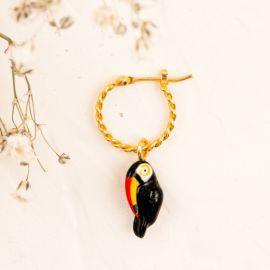 Mini boucle d'oreille toucan - Nach