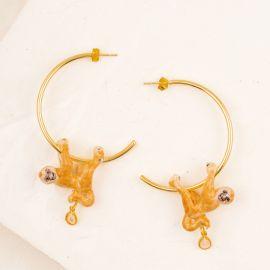 Boucles d'oreilles Gibbon perché - Nach