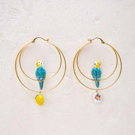 Blue budgerigar Multi earrings - Nach