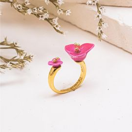 Pink bougainvillea facetoface ring - Nach