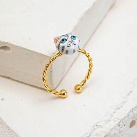 Tabey grey cat ring - Nach