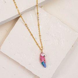Collier perroquet rose - Nach