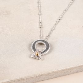 short necklace with thick ring Desert dream - Ori Tao
