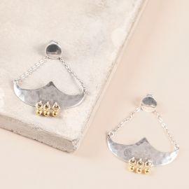 2 elements post earrings Java - Ori Tao