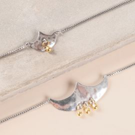 thin bracelet with chain Java - Ori Tao