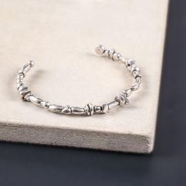 cuff bracelet Silver beads - Ori Tao