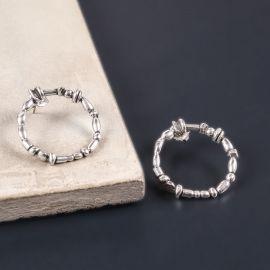 ring earrings Silver beads - Ori Tao