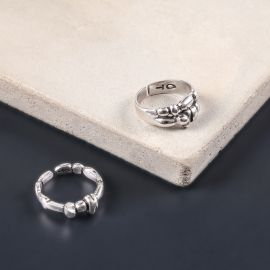 petite bague Silver beads - Ori Tao