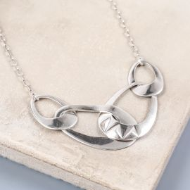 4 rings necklace Rokia - Ori Tao