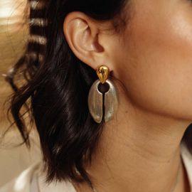 boucles d'oreilles poussoir grand modèle Luxor - Ori Tao